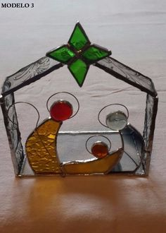 Pesebres De Navidad Hechos En Vitraux - Pesebres Navideños - $ 300,00