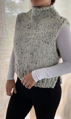 Knit Cardigan Pattern, Sweater Knitting Patterns, Knit Patterns, Baby Knitting, Beginner Knitting Patterns, Top Pattern, Diy Clothes, Knit Crochet, Knitwear