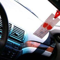 Uma surpresa simpática para os convidados: tag para o carro agradecendo a presença! Mais lá no blog: www.meucasamentoperfeito.com.br (em www.meucasamentoperfeito.com.br)