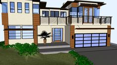 3D Animation of a 2-story Residence Remodel.