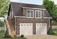 Shingle-style Garage Apartment