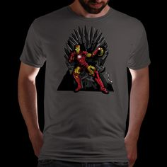 Seriously popular tee on offer today......An iron throne needs an iron man. Qwertee : Limited Edition Cheap Daily T Shirts   Gone in 24 Hours   T-shirt Only £8/€10/$12   Cool Graphic Funny Tee Shirts