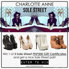 Win 1 of 3 Sole Street PhP500 Gift Certificates and get a nice Sole Street pair! Enter here: http://wp.me/p3V93o-gC