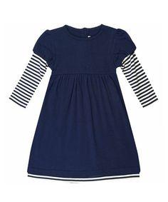 Navy Layered A-Line Dress - Infant, Toddler & Girls by JoJo Maman Bébé #zulily #zulilyfinds