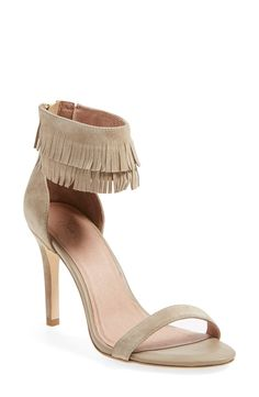 Two tiers of delicate suede fringe lend a boho-chic vibe to any ensemble this season.