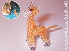 This was made with 11/0 seed beads and 32 gauge wire. The design of the dolphin is by Marilyne Kereneur. I am still thinking about adding a dorsal fin. So far this is my favorite 3D bead animal, bu...