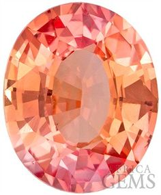 GIA Certified Padparadscha Sapphire Gem Oval Cut, Rare Vivid Pink Orange, 7.2 x 5.8 mm, 1.16 carats - GIA Certified