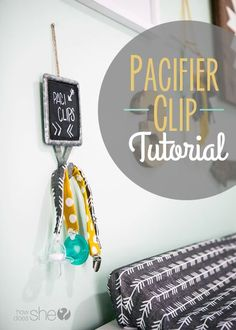 Make your own pacifier clip in less than 5 minutes! Quick and easy craft, perfect as a gift or for your own baby.