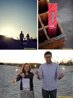 Engagement Ideas: Sparklers (make sure they aren't the kind that are covered in colored tissue paper, they don't work!)