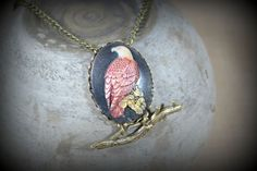 July Challenge: Bald Eagle Cameo Necklace by BAccessorized on Etsy