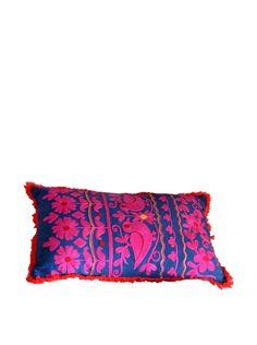 Lumbar Rabari Pillow, Navy/Pink/Red, http://www.myhabit.com/redirect/ref=qd_sw_dp_pi_li?url=http%3A%2F%2Fwww.myhabit.com%2Fdp%2FB016D12LCY%3F