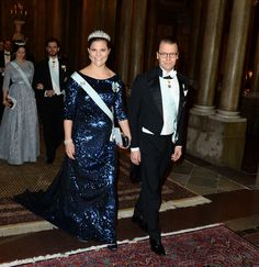 Dinner held by the King of Sweden in honor of the Nobel laureates in Stockholm 11 December 2015 - Crown princess Victoria and prince Daniel