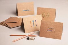 Love these DIY camp cards kit from Maker Crate for kids off to camp (sniff)