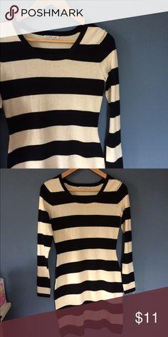 Sweater Dress Striped sweater dress, never worn. Charlotte Russe Dresses Long Sleeve