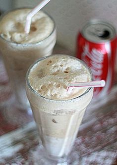 coke float cocktail | WARNING: these are very easy to drink | 1½ ounces whipped cream vodka ¼ teaspoon pure vanilla extract 2 tablespoons heavy whipping cream 1 cup Coca-Cola Ice | Fill a tall glass with ice. Pour in the heavy whipping cream, vodka, and vanilla extract. Stir. Carefully pour in Coca-Cola (mixture will foam up a bit). Stir and serve with a straw.