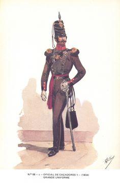 Portugal; 1st Cacadores battalion, Officer, Grande Tenue, 1834