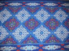 Items similar to 4 feet Colorful Traditional Egyptian Textile Polyester/Cotton Mix Fabric - BLUE CHESS - Washable - Up to 32 Feet Per Piece on Etsy Tent Fabric, Fabric Decor, Hookah Lounge Decor, I Dream Of Jeannie, Tent Design, Magic Carpet, Moroccan Style, Egyptian, Textiles