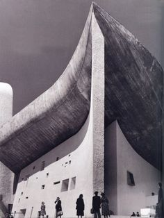 Chapel of Notre Dame du Haut by the great Le Corbusier in Ronchamp, France