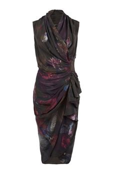 Love the floral print and the illusion of the wrap dress