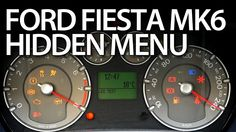 How to enter hidden menu in #Ford #Fiesta MK6 #service #test mode instrument cluster, #DTC #cars