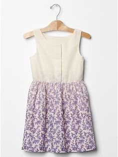 Floral ombre fit & flare dress