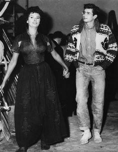 Sophia Loren and Anthony Perkins