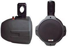 Dual Marine Wakeboard Water Resistant Speakers 8-Inch 300 Watt Tower Speakers Black