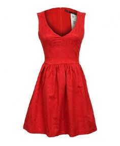 V-neckline Sleeveless Skater Dress