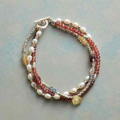 Bella Blues Bracelet | Sundance Catalog Garnet Bracelet, Gemstone Bracelets, Ankle Bracelets, Handmade Bracelets, Gemstone Jewelry, Beaded Jewelry, Jewelry Bracelets, Handmade Jewelry, Antique Jewelry