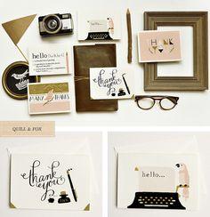 Quill & Fox stationery line Cute Stationery, Stationery Paper, Stationary Design, Wedding Stationary, Love Design, Print Design, Clip Art, Creature Comforts, Grafik Design