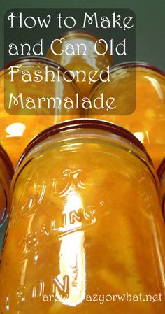 Step by step directions for making old fashioned orange marmalade. So excited to try this with the abundant oranges and grapefruit we now have Canning Tips, Home Canning, Canning Recipes, Canning Apples, Jelly Recipes, Jam Recipes, Drink Recipes, Orange Marmalade Recipe, Making Marmalade