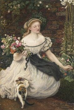Obraz na titulce – Ford Madox Brown; Kytice