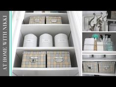 HOME ORGANIZATION | How To Organize Your Utility Closet w/ AtHomeWithNikki - YouTube