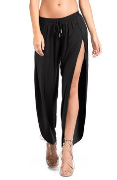 Robin Piccone Side Split Cover-Up Pants available at #Nordstrom
