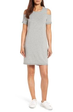 Check out the Caslon® Cold Shoulder Shift Dress (Regular & Petite) from Nordstrom: http://shop.nordstrom.com/S/4504116