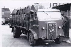 ERF British Road Services. Loaded with barrels.