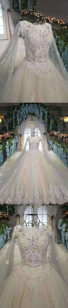 2020 Marvelous Wedding Dresses Zipper Up With Appliques And Beads PLG3YKAJ, This dress could be custom made, there are no extra cost to do custom size and color