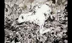 Amorphous death by Timea Mitroi, via Behance Moose Art, Lion Sculpture, Death, Behance, Statue, Drawings, Artworks, Animals, Illustrations