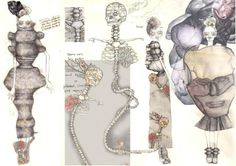 Creative Fashion Sketchbook - stylised fashion illustrations; fashion design portfolio