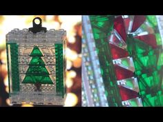 Custom LEGO Stained Glass Christmas Ornaments MOC 2015 - YouTube Lego Christmas Ornaments, Stained Glass Christmas, Custom Lego, Lego Creations, Mosaic, Custom Design, Holiday Decor, Youtube, Home Decor