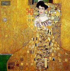 Art Room Britt: Gustav Klimt Portait of Adele (Woman in Gold)