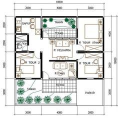 Gambar Denah Rumah Minimalis Leter U Yang Bisa Anda Contoh Gratis Minimalist House Design, Small House Design, Minimalist Home, Shed Plans, House Plans, Affordable Bedroom Sets, Blue Wallpapers, Blue Bedroom, Home Design Plans