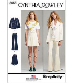 Simplicity Misses' Suit Separates, Cynthia Rowley Collection-12-14-16-18-20
