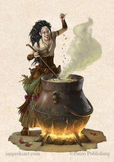 Witch Herbalist by IanPerks.deviantart.com on @DeviantArt
