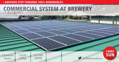#24hoursofsun Solar and great brews equal good business. This is what the two owners of Bonfire Brewing believed when they first set out to go solar. Active Energies was there to help fulfill their dream: to not only save money on electrical expenses but also to help the environment. Active Energies provided them with a high quality, high delivering system at minimal upfront cost. The Fronius Symo helped complete the 25.02 kWp system, which is roof mounted on their brewing facility.