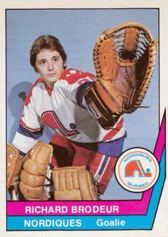 WHA Quebec Nordiques Richard Brodeur