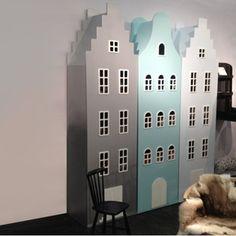 Armoire enfant Amsterdam Escalier Kast van een Huis (10 coloris)
