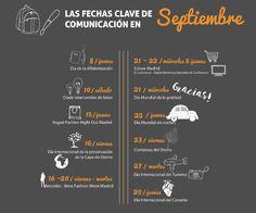 Días clave para la #comunicacion de Septiembre | #socialmedia #infografia #marketing