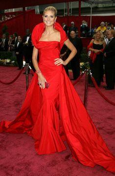 Heidi Klum de Dior no Oscar em 2008