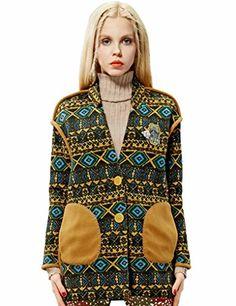 Elf Sack Womens Winter Wool Jacket Abstract Print V Neck Big Pockets Medium Size Yellow Elf Sack http://www.amazon.com/dp/B00S132MW2/ref=cm_sw_r_pi_dp_jDEYub0P0E6TJ